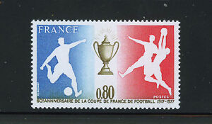 FRANCIA-FRANCE-1977-MNH-SC-1549-Soccer-Cup-of-France