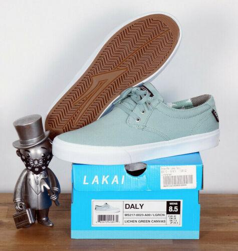 Lakai Footwear skate zapatos Shoes daly ciones Green canvas 11,5//46