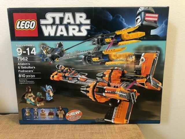 LEGO STAR WARS 7962 Anakin Skywalker and Sebulba/'s Podracers Sealed Brand NEW