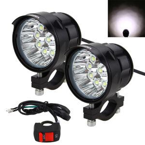 2x 90w 9000lm 9x xm l t6 led moto feux avant phare lumi re lampe commutateur ebay. Black Bedroom Furniture Sets. Home Design Ideas