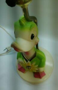 Vintage-1965-Baby-World-Squeaky-Toy-Duck-Child-039-s-Nursery-Lamp-amp-Night-Light