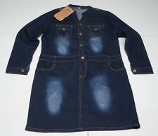 Fang Niu Wang Zi Womens 3XL Blue Cotton Blend Stretch Denim Jean Dress NWTs