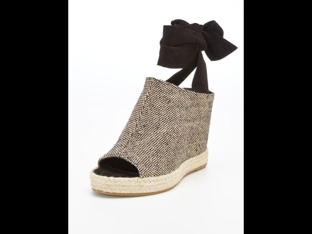 Bnwtb 100% Auténtico Maje, señoras Nova Tobillo Wrap Cuñas Zapatos.