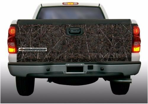 Deer hunting woodland camouflage truck tailgate vinyl graphic decal wraps