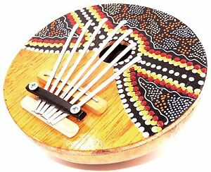 Karimba Kalimba Guitare Piano à Pouce Sanza Coco Instrument Musique Bois Peint