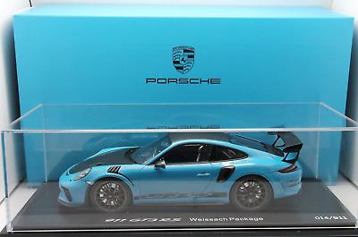 1/18 Spark Porsche 911 (991 II) GT3 RS Weissach Package Miami blue/black