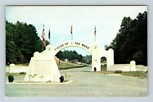Chrome-View-of-Fields-Of-Wood-Church-Of-God-Of-Prophecy-Murphy-NC-Postcard-X26