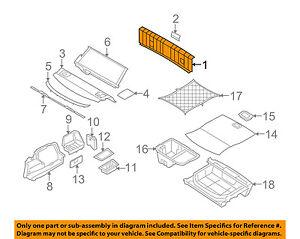 BMW OEM 07-11 328i Interior-Rear-Rear Body Trim 51477059258 | eBay
