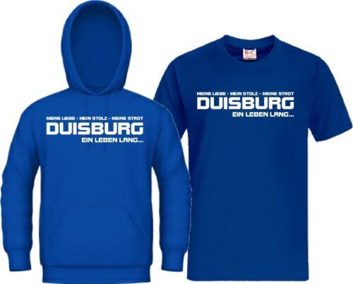 Kapu Trikot Kapuzensweat Duisburg EIN LEBEN LANG Ultra Zebra Hoodie T-Shirt