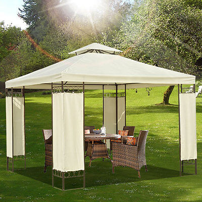 3m x 3m Garden Gazebo Marquee Metal Party Tent Canopy Pavilion Shelter