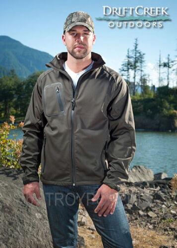Drift Creek Outdoors #5040 Dark Moss stormbloc Homme RAIN Gear Soft Shell Veste