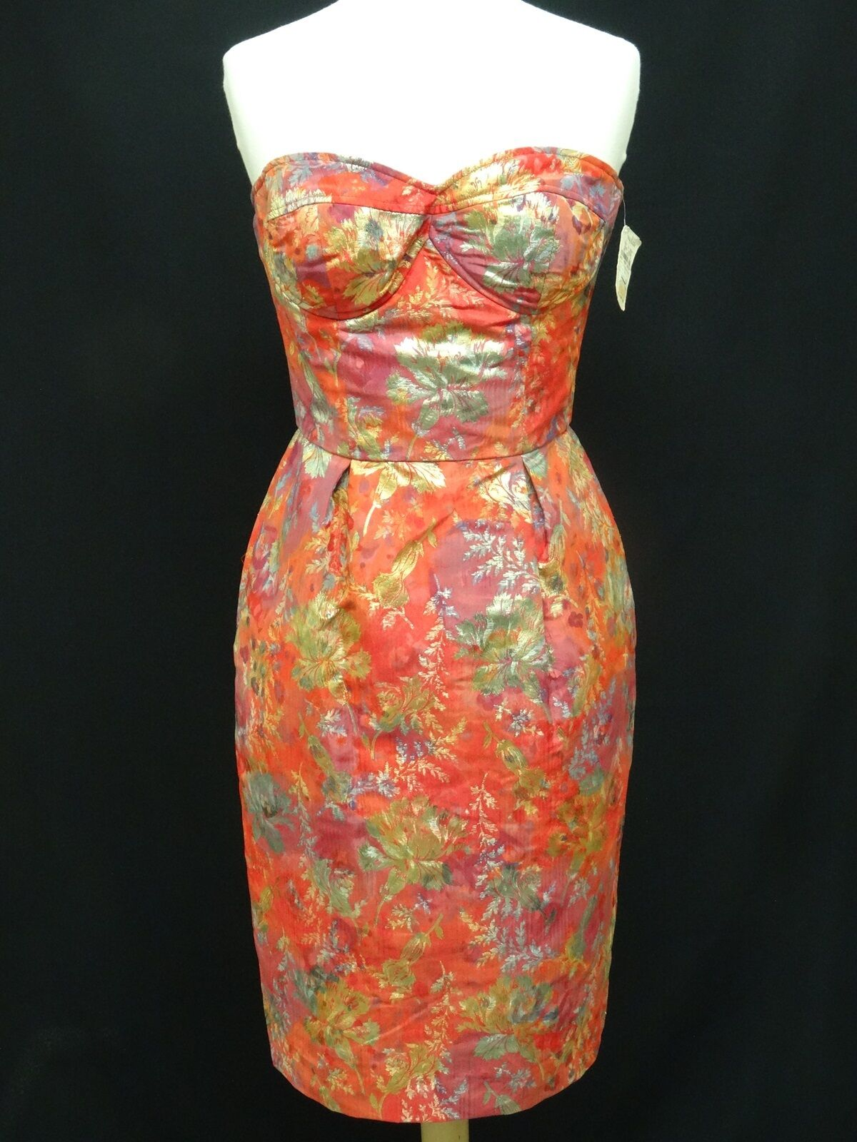 VINTAGE CHRISTIAN LACROIX FLORAL DRESS sz 36 w  ORIGINAL PRICE TAG  2128