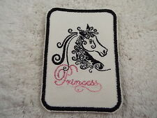 "PRINCESS HORSE 4-1/2"" Embroidery Iron-on Applique Custom Patch (E2)"