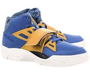 Men s Adidas Mutombo TR Block Training Shoes d65544 Vivid Blue Gold ... c881320652