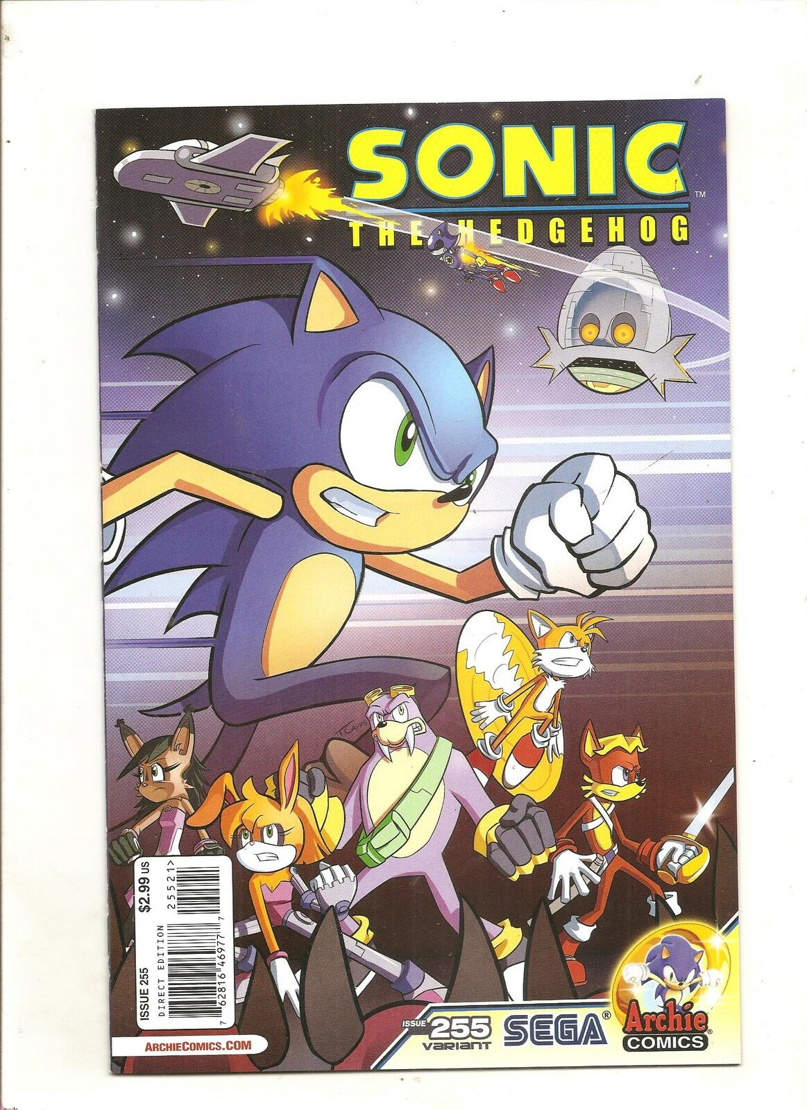 Archie Comics  Sonic The Hedgehog #257 A  Variant Edition