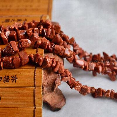 "Sand Stone Amazonite Gemstone Jewelry Making Chips Loose Beads 15""L"
