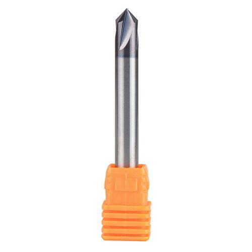 "1//4/"" Shank Carbide Chamfer End Mill 90 Degree V Groove CNC Router Bit 4 Flutes"