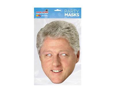 Bello Bill Clinton-promi Maschera-di Alta Qualità Lucentezza Scatola Di Cartone Con Gli Occhi Fori-