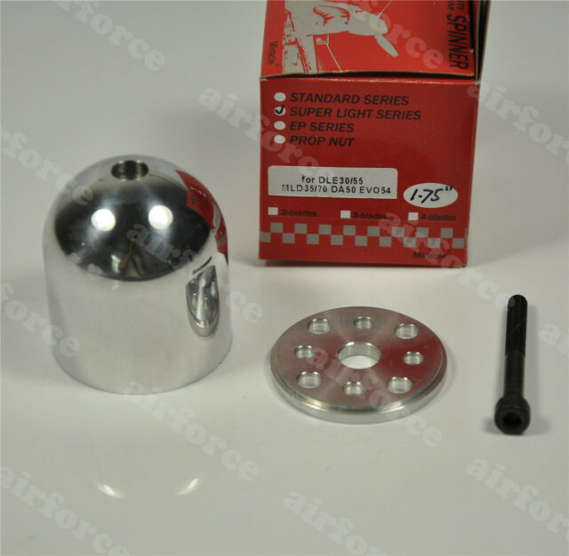"""Miracle 1.75"""" (44.5mm) Special Drilled Aluminum Spinner for DLE30/55 MLD35/70"""