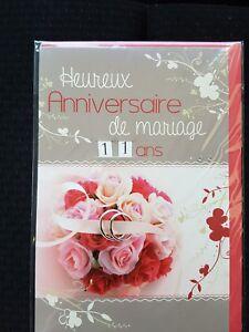 Neuf Carte Anniversaire Mariage 2 99 Ans 10 Cartes Achetees Port Gratuit Ebay