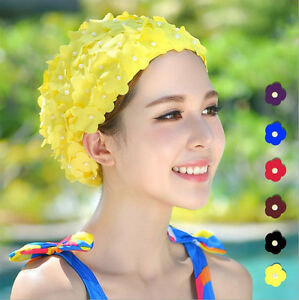 Retro swimming caps for adults