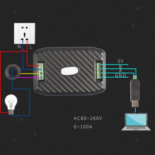 Spannung Strom Energie Hz Leistungsfaktor RS485 Modbus Modul Spule CT