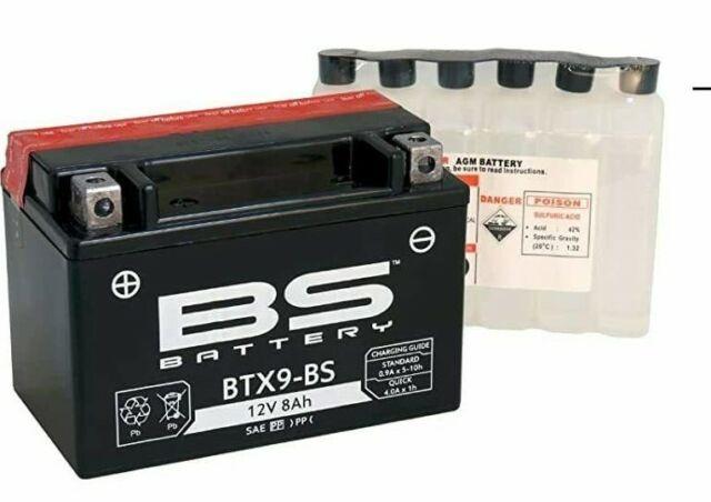 bs battery btx9-bs ytx9-bs suzuki uh 200 burgman g 2008 2009 2010 2011 2012 2013