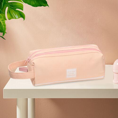 Fabric Large Capacity Pencil Case Storage Bag Pen Pouch Case Make Up Bag