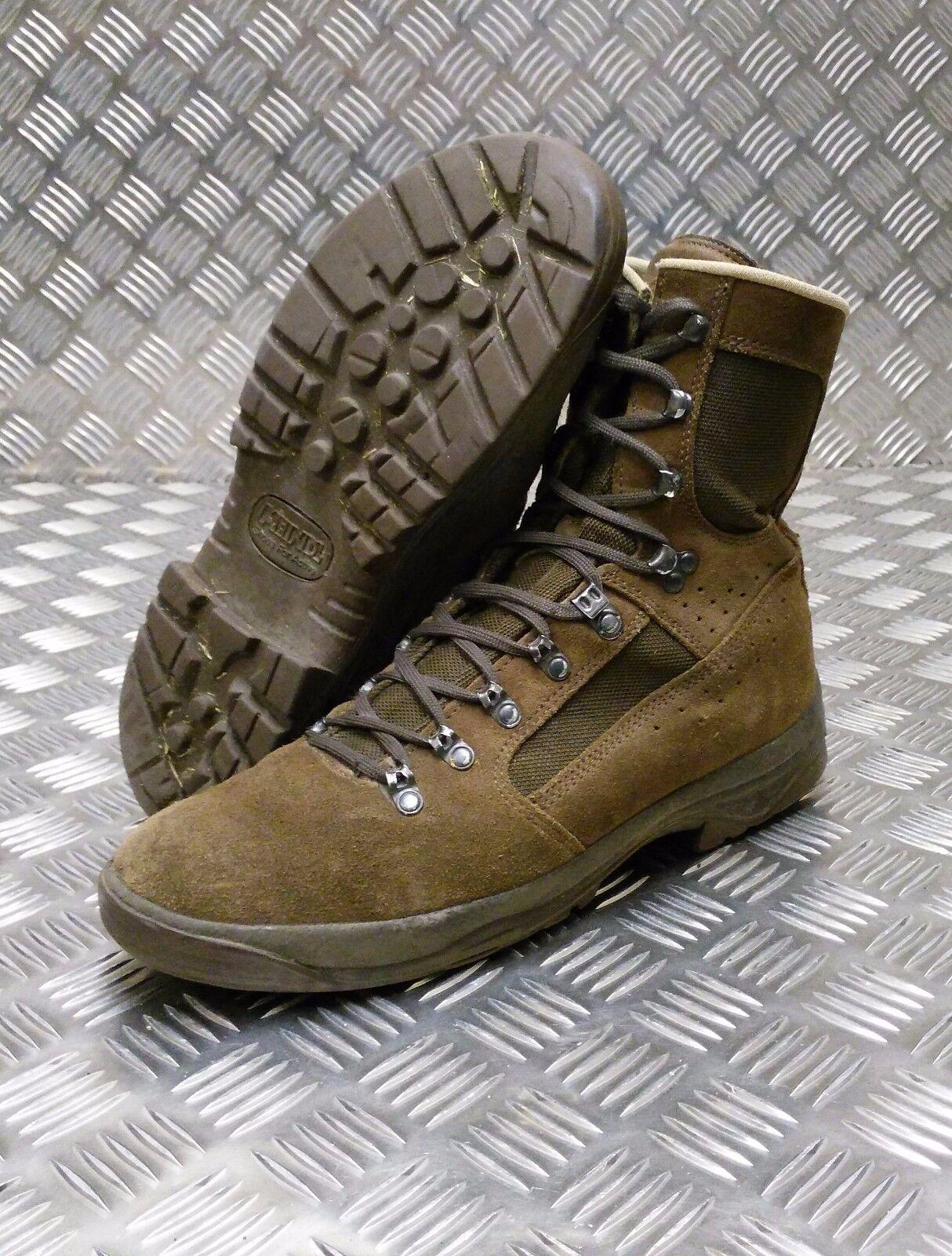 Autentico Esercito Inglese Meindl responsabilità donna gambale da combattimento desert boots Marrone