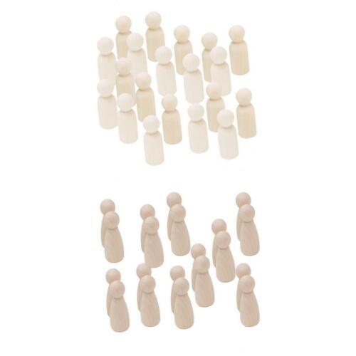 männlich weiblich 35mm zum Malen oder 40x Hölzerne Menschen Peg Dolls