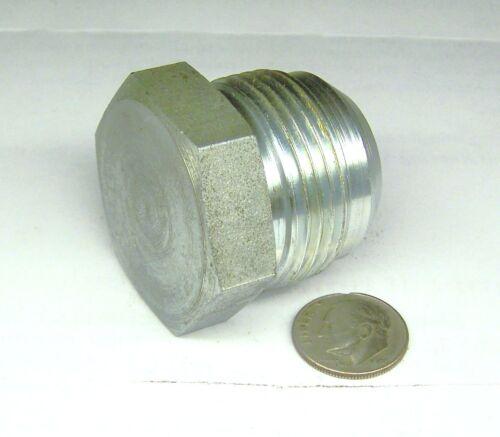 """HYDRAULIC 16 PLUG 1/"""" MALE JIC 37 1-5//16/""""-12 THREAD STEEL PLATED HOLLOW"""