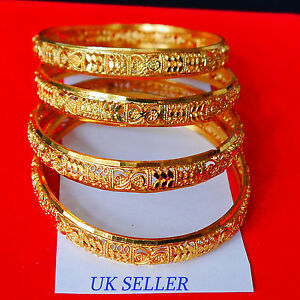 22K-Gold-Plated-4Pc-Bracelet-Bangle-Indian-Women-Ethnic-Traditional-Jewelry-2-6
