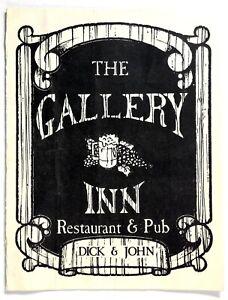 1980-039-s-Original-Vintage-Menu-THE-GALLERY-INN-Restaurant-Pub-Studio-City-CA