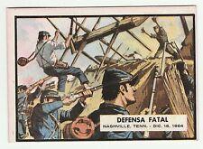 Topps A&BC Civil War News Gum Card Spain Spanish language printing #81