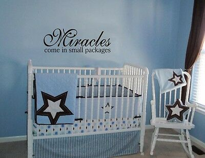 miracles come in small packages wall decal quote words lettering