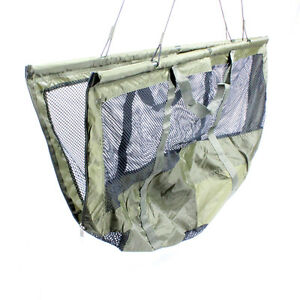 Abode-DLX-Folding-XL-Carp-Fishing-Safety-Zip-Mesh-Weigh-Sling-amp-Carry-Bag