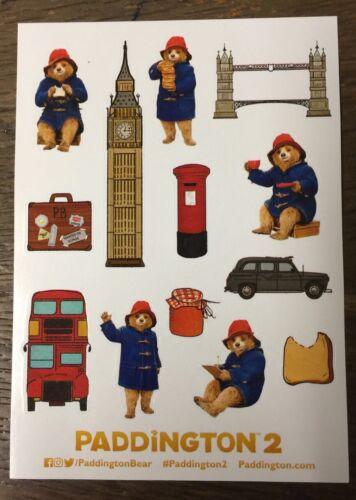 Paddington Bear Édition Limitée Feuille Autocollant Pour Fête Sacs Cadeaux pour enfants
