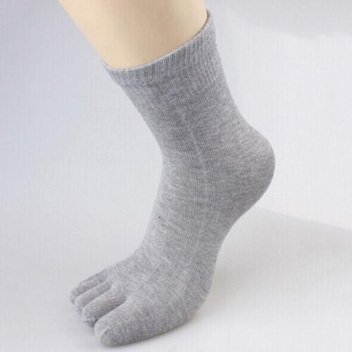 New Men/'s Women/'s Socks Pure Cotton Sports Five Finger Socks Toe Socks
