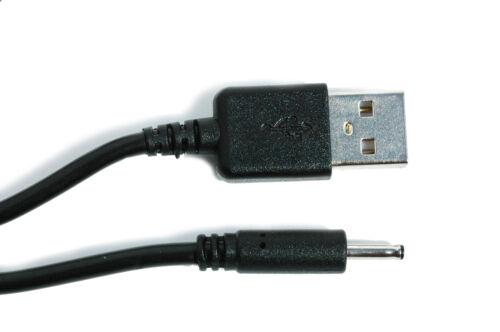 90 cm USB nero caricabatteria cavo di alimentazione per Archos Home Tablet 7 MARK 2 a70bht