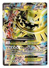 Mega M Steelix EX 109/114 *FULL ART HOLO FOIL* NM Pokemon Steam Siege Rare