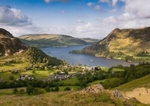 A1-Ullswater-Lake-District-Poster-Art-Print-60-x-90cm-180gsm-Hiking-Gift-16358