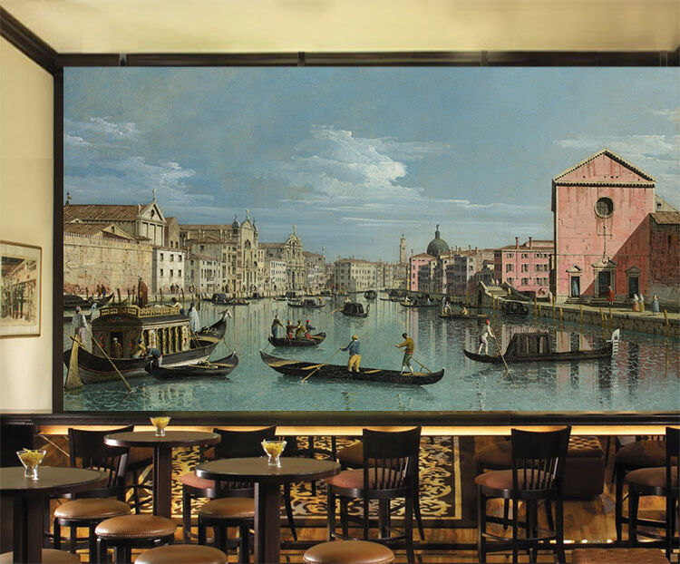 3D Riverside house, boat 46 Wall Paper Print Wall Decal Deco Indoor Wall Murals