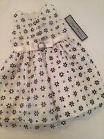 Baby Ivory Cream Black Glitter Flower Girl Dress Size 2t Fancy Holiday Wedding
