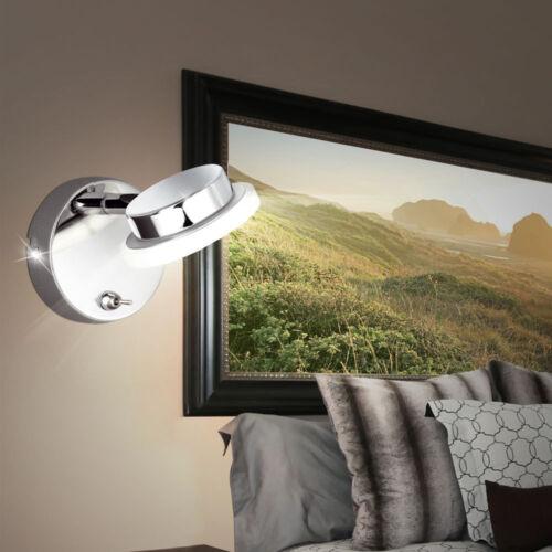 LED Leuchte Treppenhaus Wand Strahler Spot Chrom Design Lampe Beleuchtung Ø4,5cm