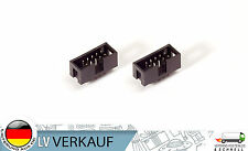 2 Stück Pin 10 Pin Socket 2,54mm für Arduino ISP JTAG USBASP USB ISP Breadboard