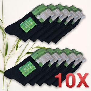 10X Pairs Mens Bamboo Fibre Socks Odor Resistant Sweat Black Natural Comfortable 646690426920