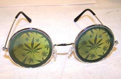 HOLOGRAPHIC MULTIPLE POT LEAF SUNGLASSES hologram 3-D  glasses trippy LEGALIZE