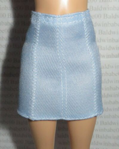 SKIRT ~ BARBIE DOLL FASHIONISTA LIGHT BLUE FAUX JEAN STITCHED BOTTOM CLOTHING