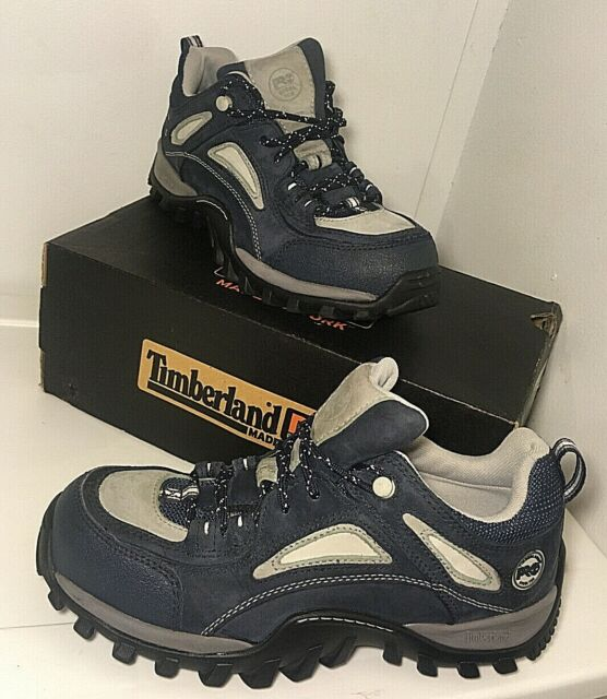 NEW Women's Timberland Pro Series Sz 9 Blue Steel Toe Hiking Work Boots Shoes