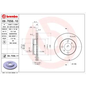 COATED DISC LINE Brembo 09.7056.11 2 Stück Bremsscheibe